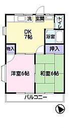 トヨダハイツ[203号室]の間取り