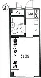 ソシエート丸杉[2階]の間取り
