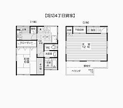 [一戸建] 東京都葛飾区堀切4丁目 の賃貸【/】の間取り
