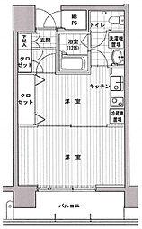 神奈川県横浜市南区山王町4丁目の賃貸マンションの間取り