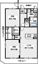 メゾン錦II[5階]の間取り