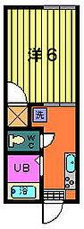 第一サフランハイツ[2-B号室]の間取り