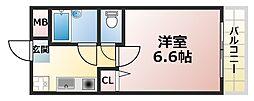 深江イースト[1階]の間取り