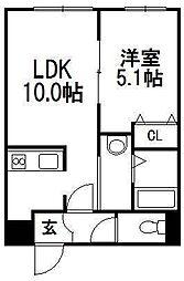 北海道札幌市白石区南郷通15丁目南の賃貸マンションの間取り