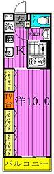 リブリ・June Smile Molti 2階1Kの間取り