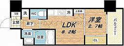 SERENiTE福島scelto 3階1DKの間取り