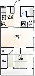 鈴木マンション[302号室]の間取り
