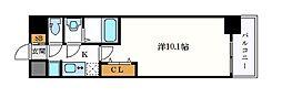 名古屋市営名城線 久屋大通駅 徒歩7分の賃貸マンション 13階1Kの間取り