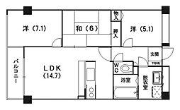 サンスクエア21[503号室]の間取り