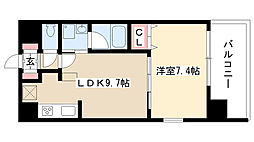 愛知県名古屋市昭和区広見町5丁目の賃貸マンションの間取り
