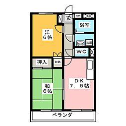 ハピネス21[3階]の間取り