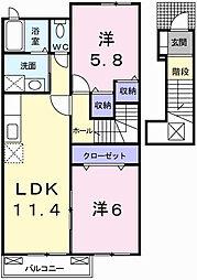 マ・シェールⅠ[2階]の間取り