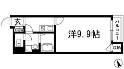 兵庫県西宮市段上町6丁目の賃貸アパートの間取り
