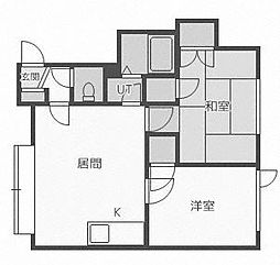 ベジタブルハウス[205号室]の間取り