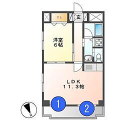 ランドハウスチクサステーション[5階]の間取り