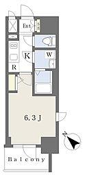 エスリードザ・ランドマーク神戸 8階1Kの間取り