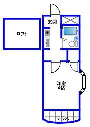 コートハウス江古田[101号室]の間取り