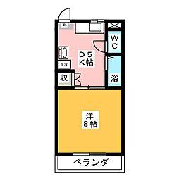 川崎ハイツII[3階]の間取り