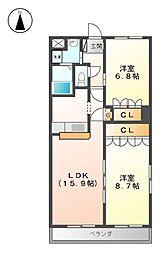 グレイスC.KII[3階]の間取り