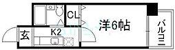 エステート南ビル[6階]の間取り