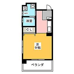 アンシャンテ 3階ワンルームの間取り