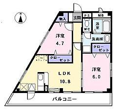 愛知県海部郡大治町大字鎌須賀字山廻の賃貸アパートの間取り