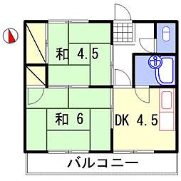 サバイブ[2-7号室]の間取り