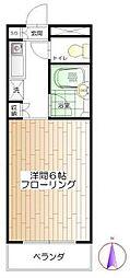 エミネント高円寺[206号室]の間取り