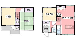 [一戸建] 兵庫県西宮市南甲子園2丁目 の賃貸【兵庫県 / 西宮市】の間取り