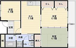 パブリックマンション[1階]の間取り