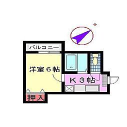 福岡県北九州市八幡西区浅川台1丁目の賃貸マンションの間取り