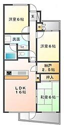 ドルチェ甲子園[4階]の間取り