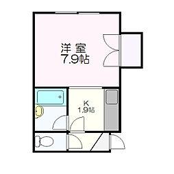 ロアール新札幌C[110号室]の間取り