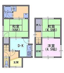 [一戸建] 京都府向日市森本町薮路 の賃貸【/】の間取り
