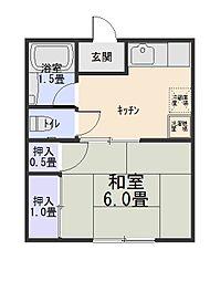 飯塚ハイツ[2階]の間取り