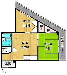 M'PLAZA津田駅前弐番館[4階]の間取り