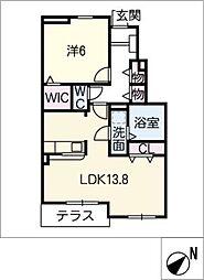 レジデンス・サンリット C棟[1階]の間取り
