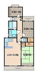 小田急東林間マンション[3階]の間取り