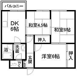 福本ハイツI[201号室]の間取り