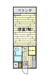 千葉県浦安市猫実4丁目の賃貸マンションの間取り