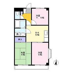 ロイヤルシャトレー[2階]の間取り