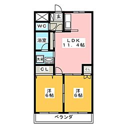 ロイヤルスクエアA[2階]の間取り