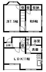 [テラスハウス] 静岡県浜松市南区三島町 の賃貸【静岡県 / 浜松市南区】の間取り