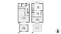 [一戸建] 兵庫県神戸市中央区再度筋町 の賃貸【/】の間取り