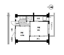 ビレッジハウス片山1号棟[201号室]の間取り