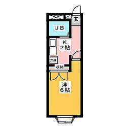 ドリームハウス プレンティ21[2階]の間取り