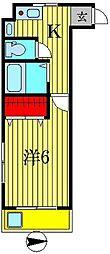 コーポコミヤマ[1階]の間取り
