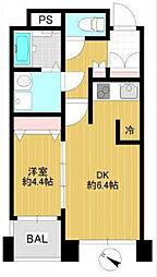 神奈川県横浜市中区石川町5丁目の賃貸マンションの間取り