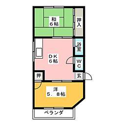 コーポコンドウ[2階]の間取り