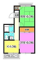 埼玉県新座市新堀2丁目の賃貸マンションの間取り